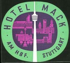 Stuttgart, Hotel Mack, am Hauptbahnhof, Fernsehturm, Gebäudeansicht