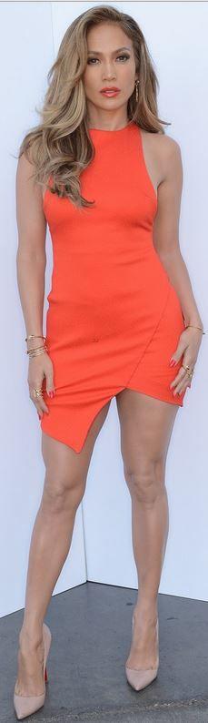 Jennifer Lopez: Dress – Bec  Bridge  Shoes – Christian Louboutin