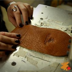 Our signature Moose hide moccasin in the early stages of its hand made journey to a new home. Moose, New Homes, Journey, Stamp, Leather, Handmade, Hand Made, Stamps