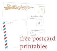 postcard printable template