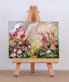Valda Fitzpatrick Artwork: red and pink garden flowers | Original Painting Oil | Landscape Art