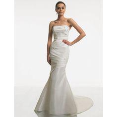 simple strapless mermaid style taffeta wedding dress simple strapless wedding gowns 800x800