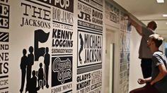 Sony Music Timeline: la storia dell'etichetta con tutti gli artisti sulle pareti degli uffici