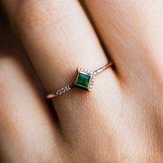 rings from independent, under the radar designer – local eclectic Emerald Ring Design, Gold Ring Designs, Emerald Jewelry, Emerald Diamond, Gold Jewelry, Jewelery, Unique Jewelry, Rose Gold Emerald Ring, Unique Ring Designs