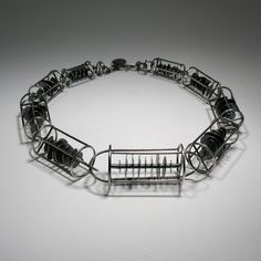 stacked caged necklace by joanna gollberg, Modern Jewelry