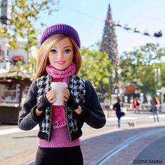 Need a little fuel to finalize my holiday errands!   #barbie #barbiestyle