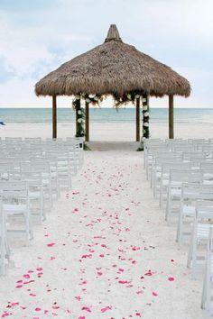 Sandy aisle at Marco Island Marriott Beach Resort in Florida