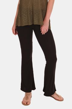 Stylish and cozy, these ribbed bell bottom leggings are your new best friend! Equally ready for the couch or a night out with the girls! Dress up easily with some high heeled boots!   Happy Hippie Bellbottoms by ShopGoldies. Clothing - Bottoms - Pants & Leggings California