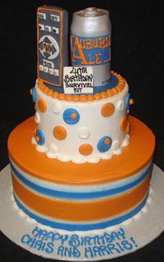 Auburn cake  cakesbydarcy.com
