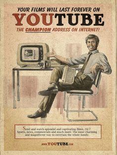 Já imaginou como seria um anúncio de empresas como Facebook, YouTube e Skype, nos anos 60? Olha que Maneiro!      Dica do meu camarada Marce...