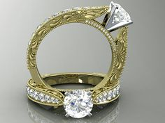 Splash into the new year with a yellow gold vintage diamond engagement ring design. Hot off the press, enjoy :)