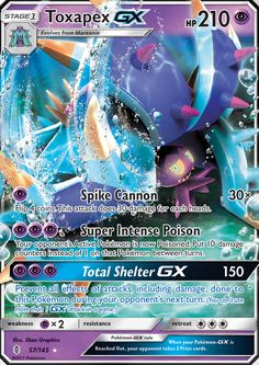 Toxapex GX - SM - Guardians Rising, Pokemon - Online Gaming Store for Cards, Miniatures, Singles, Packs & Booster Boxes Cool Pokemon Cards, Rare Pokemon Cards, Pikachu, Pokemon Trading Card, Pokemon Party, Pokemon Deck, Pokemon Fusion, Awesome, Letters