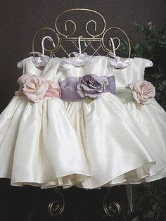 Poly silk flower girl dress with color sash by Justuniqueboutique, $39.99 the one with the purple sash and the price is awesome!