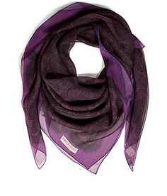 Emilio Pucci | Lace Print Silk Scarf in Violet