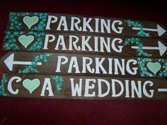 WEDDING SIGNS parking sign rustic LARGE wooden by primitivearts