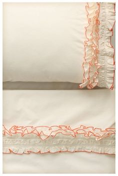 Ruffled sheets by Anthropologie