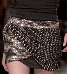 Gladiator: embellished short skirt