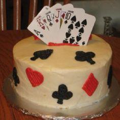 Poker time cake