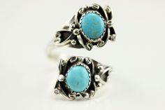 Native American Navajo .925 Sterling Silver Turquoise Adjustable Ring Size 10 by LoudCrowTrading on Etsy