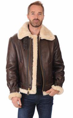 Bombardier Original 257s Mouton Marron Schott. Anubis ankh · B3 sheepskin  jackets · Nick Rea - Man in WOLSEY Hooded Sheepskin Shearling Jacket Mens  ... 9d5077ab486