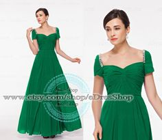 Modest Emerrald Green Prom Dress with SleevesMother by eDresShop, $99.99