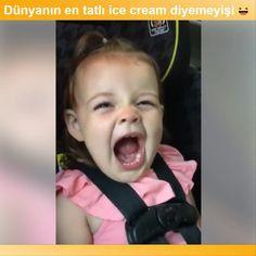 """1,384 Beğenme, 17 Yorum - Instagram'da Komik Videolar (@komikvideolar): """"ice cream ancak bu kadar güzel söylenemezdi..😍@komikvideolar #komik #komikvideo #bebek #çocuk"""""""