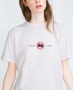 EMBROIDERED T - SHIRT - T - shirts - TRF   ZARA United Kingdom