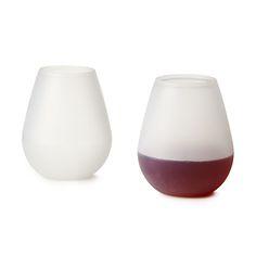 SILICONE WINE GLASSES - SET OF 2 $ 19.95