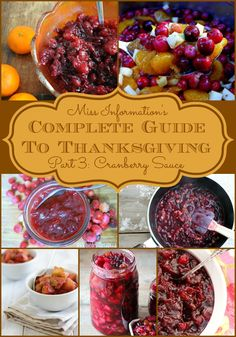 Cranberry sauce is a crucial element to any Thanksgiving dinner menu. These holiday cranberry sauce recipes are delicious and easy to make, too. via @msinfoblog