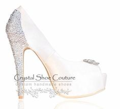 Stella Various heel heights available Open or closed toe  www.crystalshoecouture.com