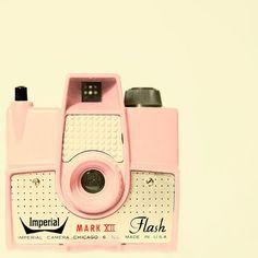 camera, photo, pink, vintage