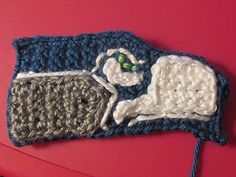 """The perfect applique to add to any gift for the Seahawk's fan in your life! Measures 5""""x 2.5"""" but size can easily be adjusted by changing hook size."""
