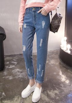 CW73211 Loose large yard long pants Korean style pants for women