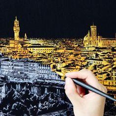 Scratch art - 博客来-Lago手刮城市金色夜景(附刮棒)-纽约