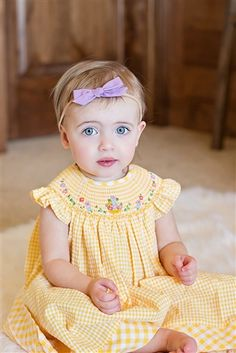 Luli & Me - Miss Sunshine Baby & Toddler Bishop Dress Spring 2018 Smocked Baby Dresses, Little Girl Dresses, Little Girls, Girls Dresses, Smocking Baby, Kids Boutique, Toddler Dress, Kids Wear, Kids Outfits