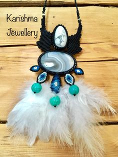 Agate with Magnesite and Turquoise necklace