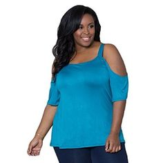 Sealed With A Kiss Designs Plus Size Lynn Cold Shoulder Top