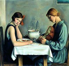Tailleuses de soupe, 1933 by François Barraud. Classicism. genre painting