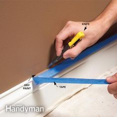 10 Tips for a Perfect Paint Job - Step by Step | The Family Handyman = the things one knows, but forget in the heat of painting.