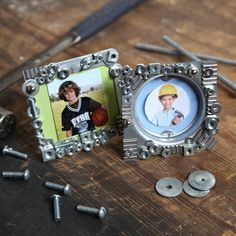all things katie marie: Fathers Day Crafts - love these DIY nuts and bolts frames.  May have to make these!
