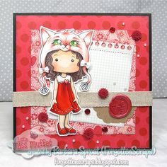 Polka Dot Pals Elisa from Little Miss Muffet Stamps created by Barbara Sproat (ForgottenScraps)