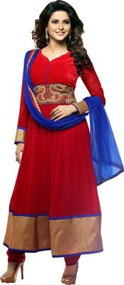 Buy Fashion On Sky Georgette Solid Semi-stitched Salwar Suit Dupatta Material(Unstitched) Online at Best Offer Prices @ Rs. 1,299/- In India.