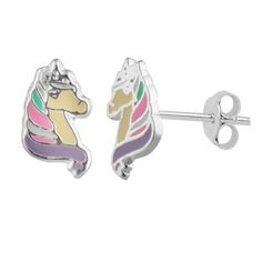 2248b57c4 Sterling Silver Girls Multi Coloured Unicorn Stud Earrings – Melchior  Jewellery