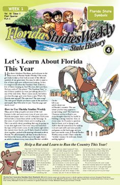 Awesome resource for Florida History!!!!! Extremely affordable at $5 for an entire year of Florida History weekly newspapers for children!!!! ((Adults may enjoy them as well!!))  HIGHLY RECOMMENDED!!!!!!!!