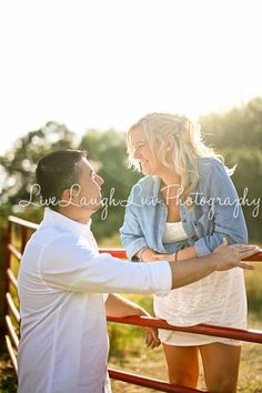 Couples engagement Summer Session. ©LiveLaughLuv Photography www.livelaughluvphotography.com. engagement, farm, country, horses, fields, fences.