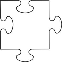 Printable template in Documents as Puzzle-Piece-Template Blank Puzzle Pieces, Puzzle Piece Crafts, Puzzle Art, Puzzle Peice, Large Piece Puzzles, Middle School Art, Art School, Puzzle Piece Template, Craft Rooms