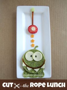 Cut the Rope Lunch | creativefunfood.com  cut using @CuteZcute