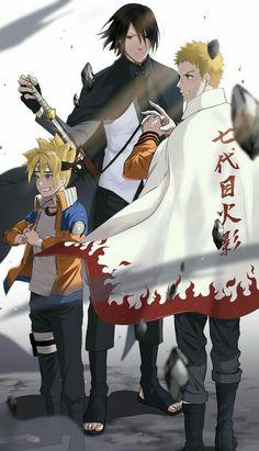 Boruto, Sasuke et Naruto Naruto Shippuden Sasuke, Naruto Kakashi, Anime Naruto, Naruto Fan Art, Naruto Teams, Sasunaru, Narusasu, Anime Ninja, Naruto And Sasuke Wallpaper