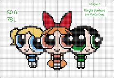 Easy Cross Stitch Patterns, Simple Cross Stitch, Bead Crafts, Diy And Crafts, Stitch Character, Beaded Animals, Le Point, Perler Beads, Art Forms