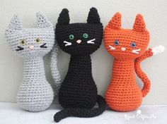 Adorable crochet cat pattern.                                                                                                                                                                                 Más